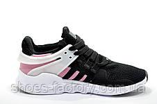 Женские кроссовки в стиле Adidas EQT Support ADV, Black\white\Pink, фото 3