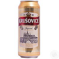 Пиво Krusovice светлое 5% 500мл Чехия