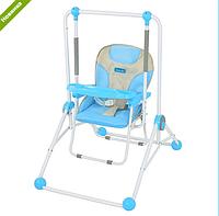 Детская напольная качели+стульчик NA 02 A 10, голубая ***