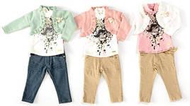 Комплект: болеро, толстовка, джинсы