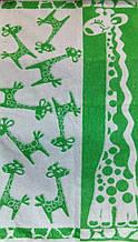 Полотенце махровое 50*90 ЖИРАФИк 100% хлопка (шт.) зеленый