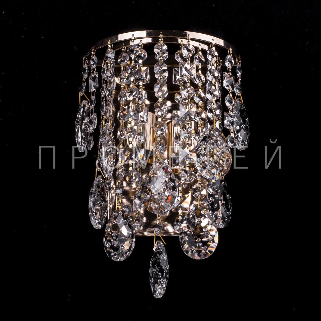 Хрустальное бра на 2 лампочки (золото) P5-E1386/2W