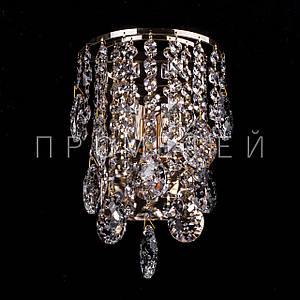 Кришталеве бра на 2 лампочки (золото) P5-E1386/2W