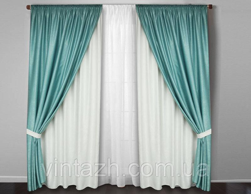Комплект готовых плотных штор в Украине