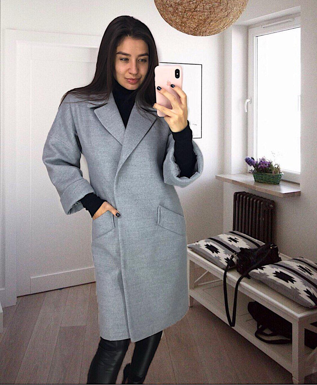 745583d02d9c Женское кашемировое пальто Milan серое - ВЕК - Интернет-магазин женской  одежды в Харькове