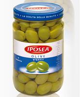 Оливки зеленые гигантские Olive giganti Iposea, 1 кг., фото 1