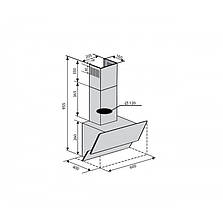 Вытяжка наклонная VENTOLUX RIMINI 60 BK (450) PB черная, фото 3