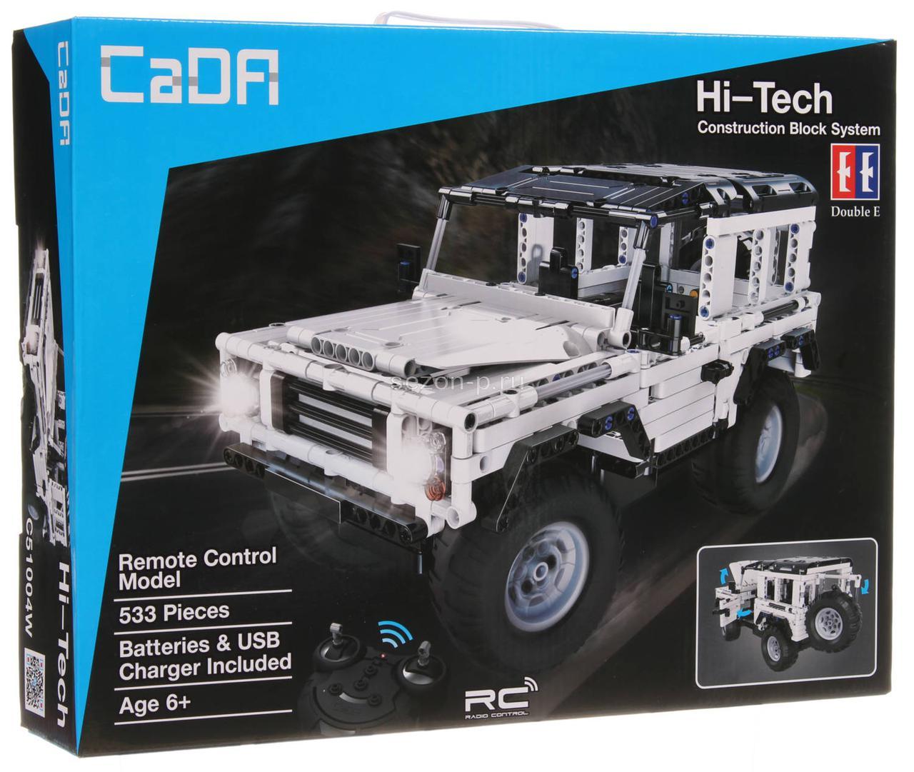 """Конструктор радиоуправляемый CaDa Technic """"Land Rover"""" с аккумулятором, 533 дет"""