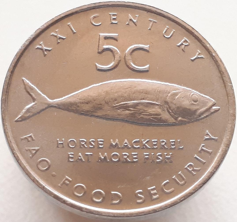 Намибия 5 центов 2000