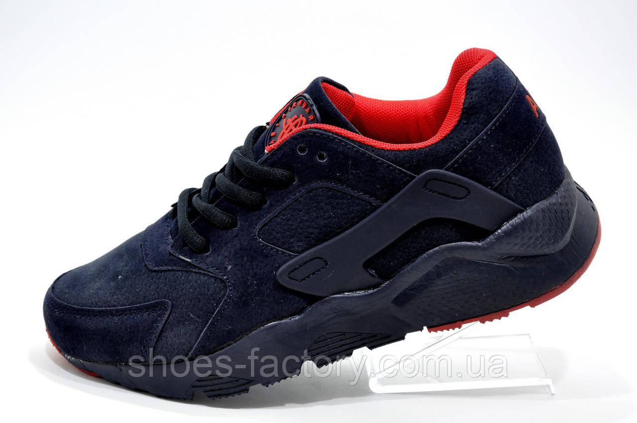 Кроссовки унисекс в стиле Nike Air Huarache, Dark Blue\Red