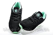Кроссовки женские в стиле Nike Air Huarache, Black\Turquoise\White, фото 2