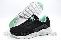 Кроссовки женские в стиле Nike Air Huarache, Black\Turquoise\White, фото 3