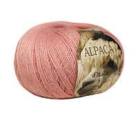 Пряжа Сеам Alpaca d'Italia розовая пудра