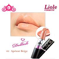 Профессиональная губная помада Lioele Dollish Lipstick Абрикосовый