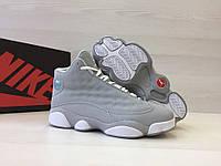 Кроссовки мужские Nike Air Jordan 13-Original код товара 4S-1050. Серые