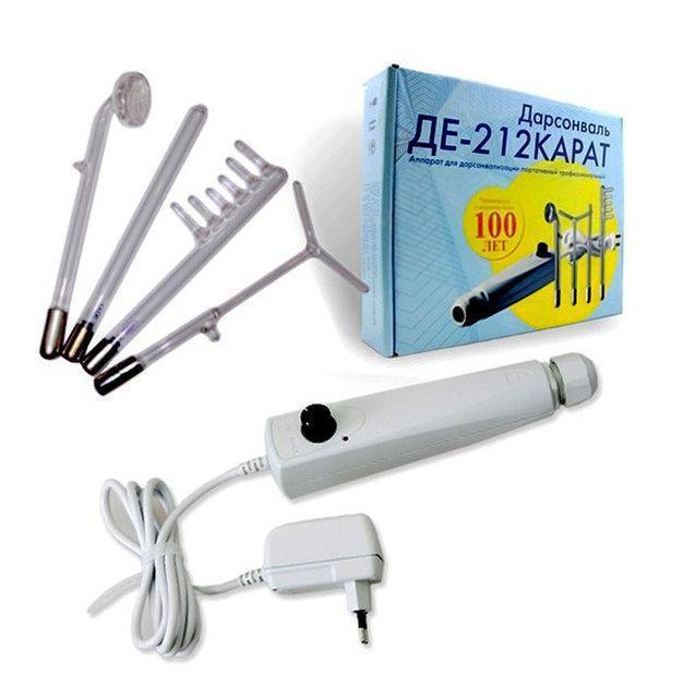 Новый дарсонваль Карат 212 (4 насадки) Аппарат для проведения косметологических процедур Код: КГ3990