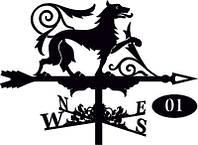 Флюгер на крышу Волк