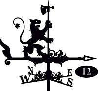 Флюгер на крышу Лев с топором