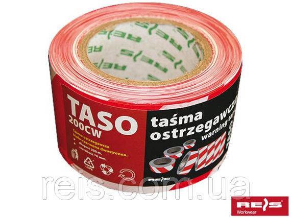 Лента сигнальная бело-красная двусторонняя TASO200-3 CW, фото 2