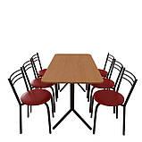 Комплект мебели для кафе: стол Скорпион + 6 стульев Ника, фото 2
