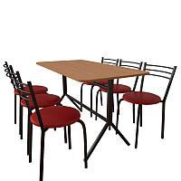 Комплект мебели для кафе: стол Скорпион + 6 стульев Ника