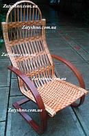 Крісло гойдалка з натуральної лози | крісло-гойдалка для відпочинку садова для дачі