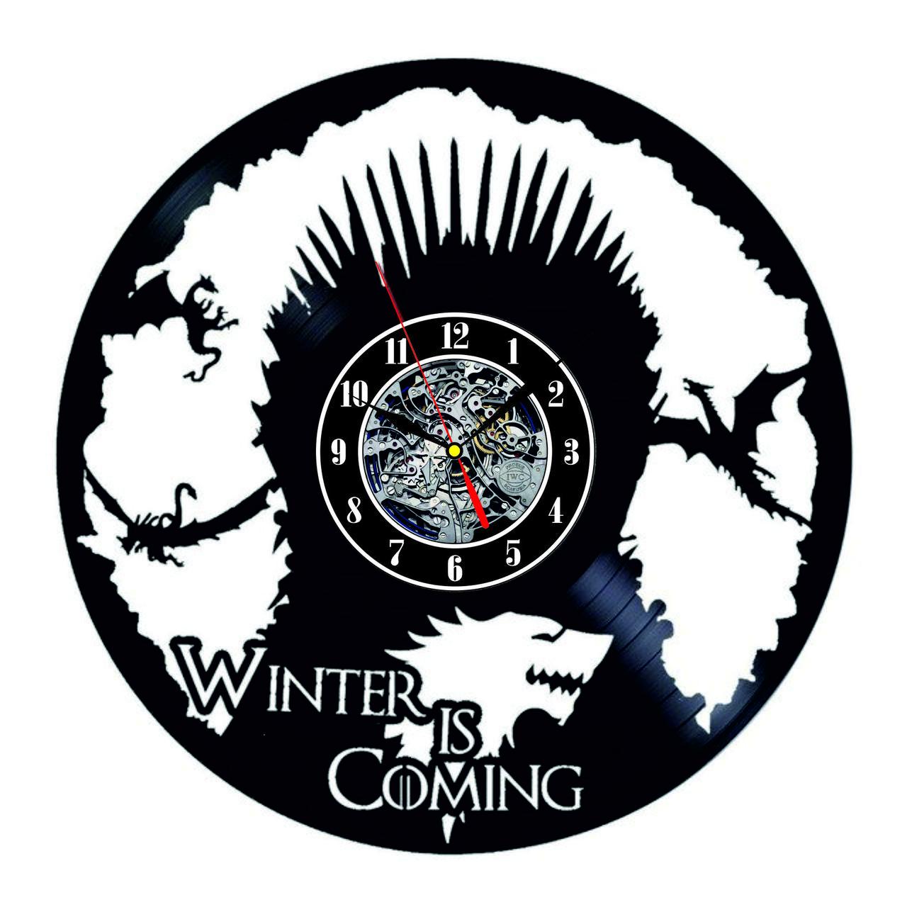 Настенные часы из виниловых пластинок LikeMark Game of Thrones 2