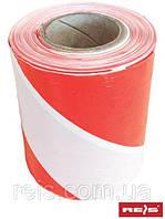 Лента предупреждающая красно-белая, односторонняя TASO500-251S CW