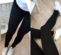 Женские спортивные леггинсы Simple цвет черный размер 42-50