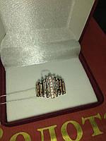 Кольцо золотое 585 с цирконами средний вес 3,95 грамм