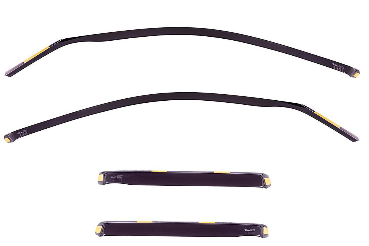 Дефлекторы окон ветровики на BMW БМВ X5 E53 2000-2007 4D вставные 4шт