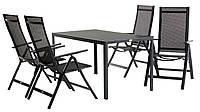Комплект садовой мебели из метала черный, фото 1