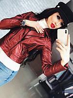 Женская кожаная куртка Топ продаж!