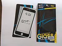 3D/4D защитное стекло для Apple iPhone 6 Plus / 6s Plus с черными рамками