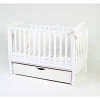 Детская кроватка Верес соня ЛД3 120*60 маятник с ящиком белая