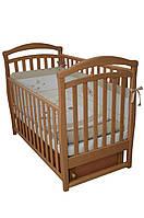Детская кроватка Верес соня ЛД6 120*60 маятник с ящиком бук
