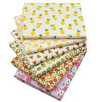 Набор тканей (Ткань) Фрукты для Пэчворка 40x50 см 6 шт, фото 1