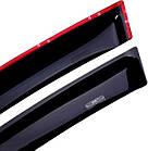 Дефлекторы окон ветровики на CITROEN Ситроен C4 2010-> HB , фото 2