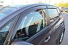 Дефлектори вікон вітровики на FIAT Фіат 500 3d -312 2007, фото 3
