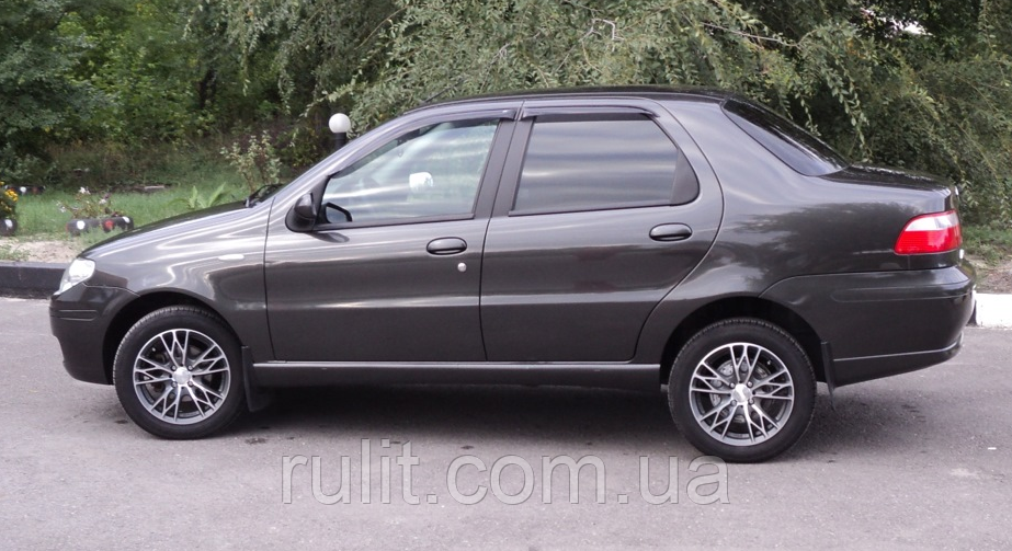 Дефлектори вікон вітровики на FIAT Fiat Albea Siena sd 2006-