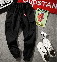 Штаны на манжетах с боковыми карманами Карго Dustbin, фото 3