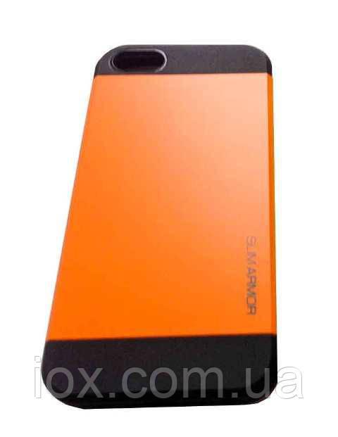 Комбинированный противоударный чехол для Iphone 5/5S силикон + пластик