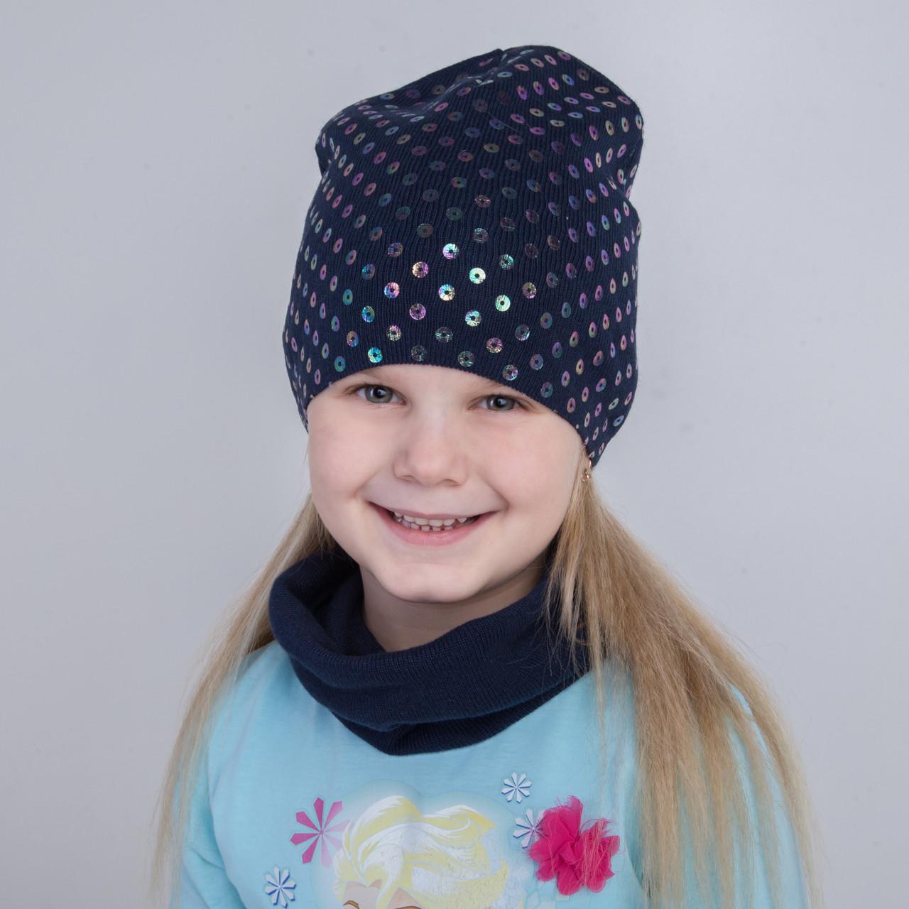 Стильний комплект с пайетками на весну для девочки оптом - Артикул 2266