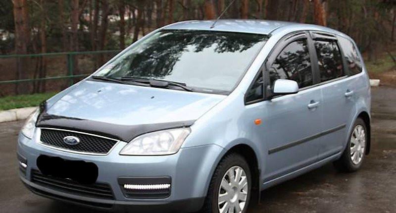 Дефлекторы окон ветровики на FORD Форд FOCUS C-MAX -3 43380 темный 4дв.