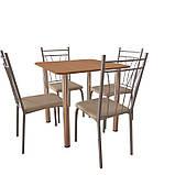 Комплект для кафе: стол обеденный Хром + 4 стула Кристи, фото 2