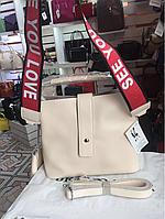Женская сумка кожаная светлая