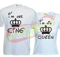 Футболки Я её Король и Я его Королева