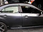 Дефлекторы окон ветровики на HONDA Хонда Accord 2008-2012 Sedan (с хром молдингом), фото 2