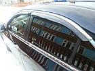 Дефлекторы окон ветровики на HONDA Хонда Accord 2008-2013 Sedan С Хром Молдингом, фото 2