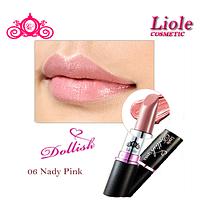 Профессиональная губная помада Lioele Dollish Lipstick Песочно-бежевый